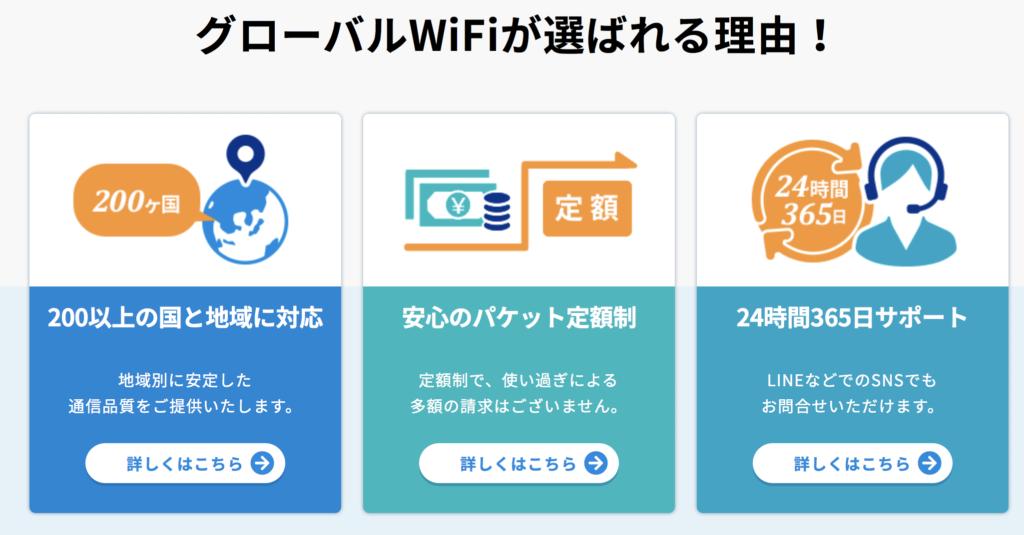 BIGLOBEモバイル グローバルWi-Fi