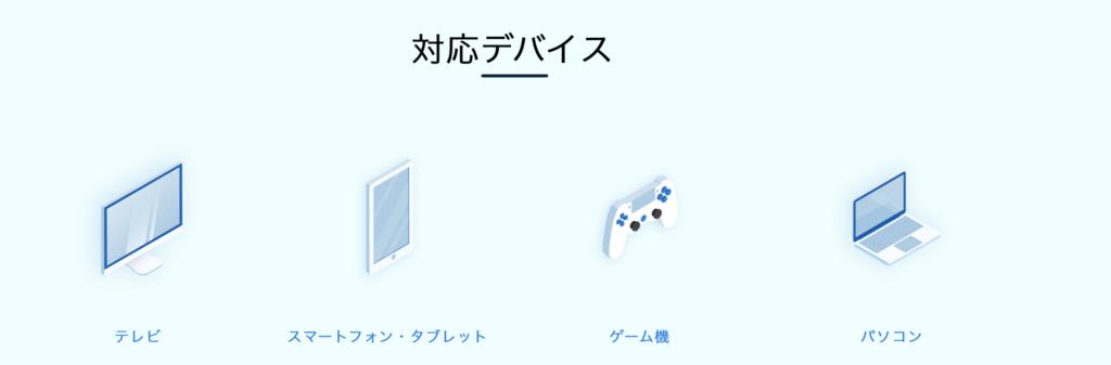 U-NEXT 対応デバイス