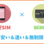 格安SIMとWiMAX(ポケットWi-Fi)の併用が超お得!安いし通信無制限で最高な話